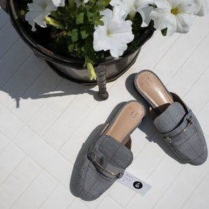 💜NWT a new day Remmy Plaid Backless Loafers